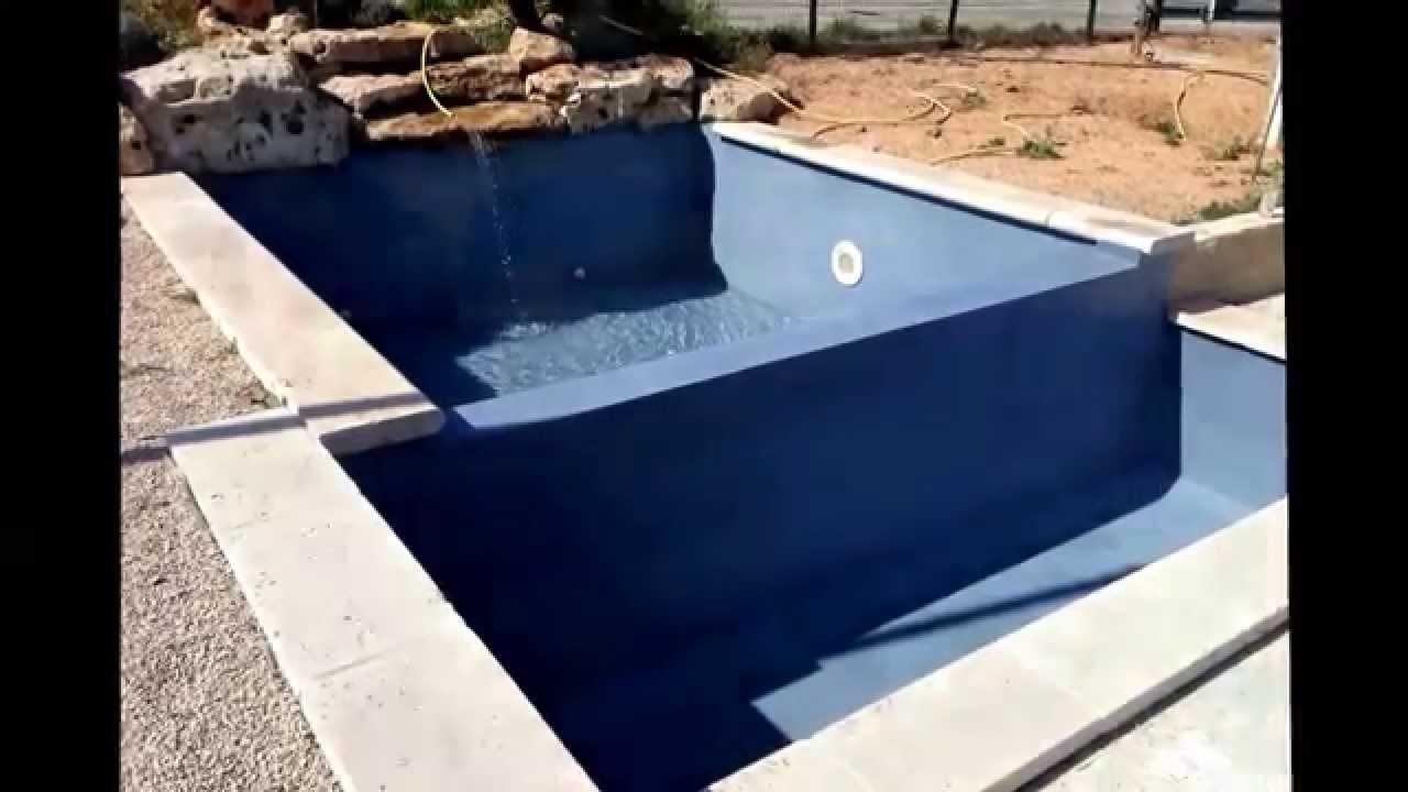 Etancheité Piscine Béton Avec Revêtement Aquabright D'ecofinish Blue Lagoon pour Étanchéité Piscine Béton
