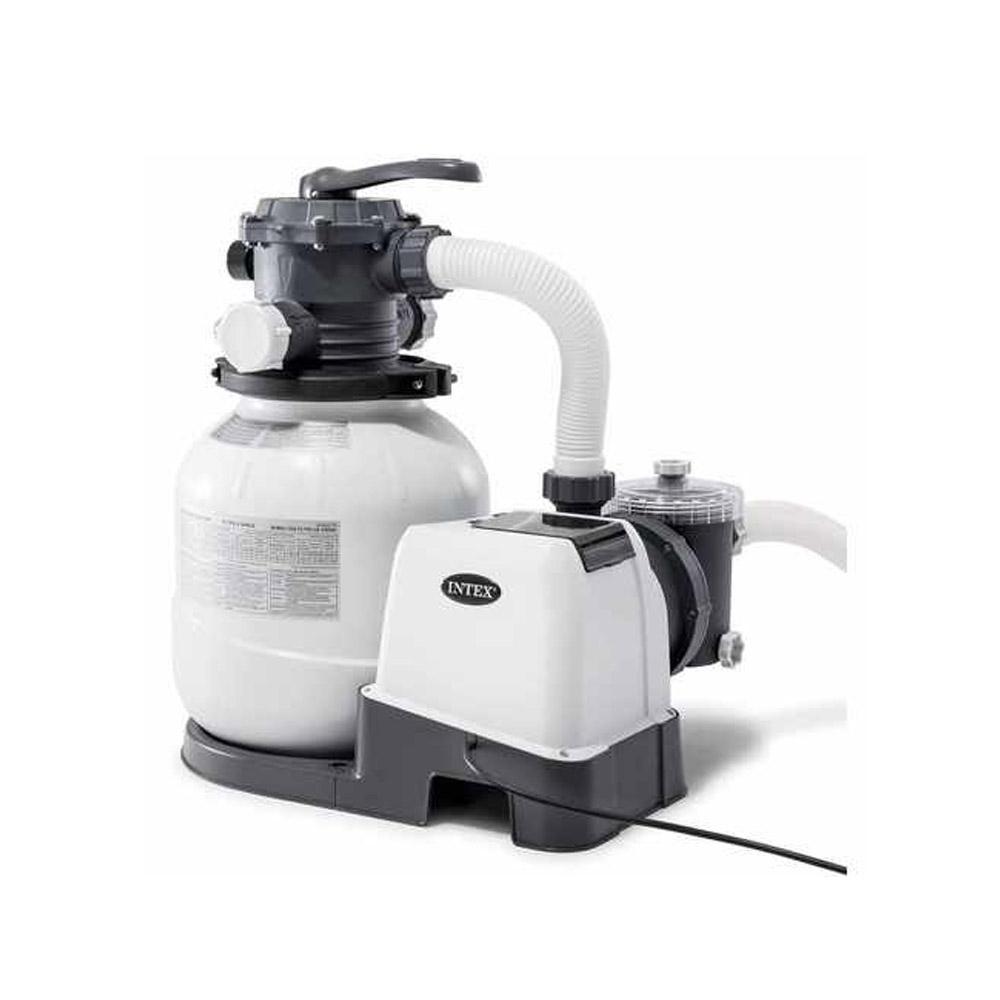 Filtre A Sable Intex 6M3/h + Sterilisateur Au Sel concernant Filtre A Sable Piscine Pas Cher