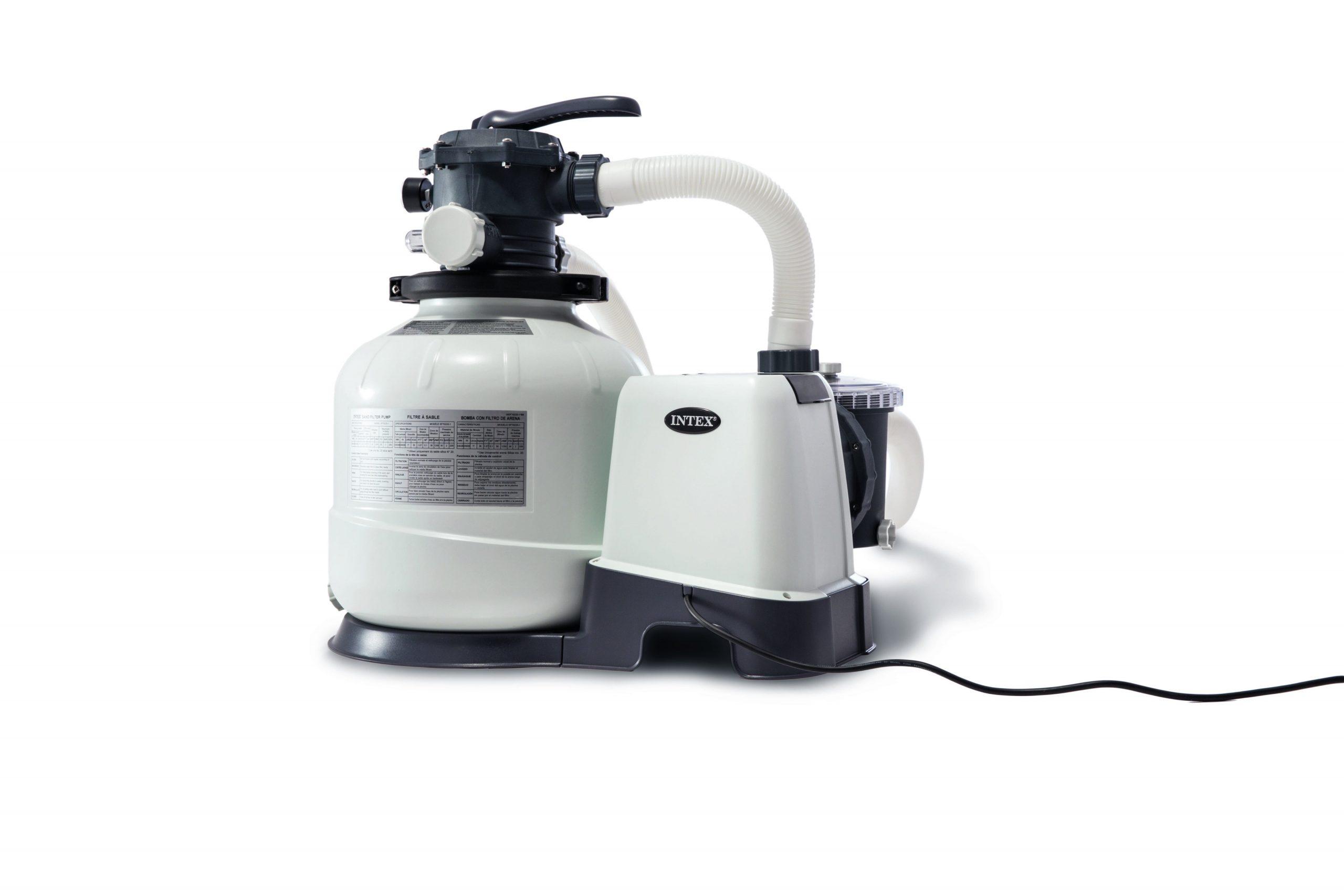 Filtre À Sable Pour Piscine Intex 8 M³/h dedans Raccord Piscine Leroy Merlin