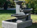 Fontaine De Jardin À Débordement Bassin 3 Vasques Noire Grise avec Fontaine De Jardin A Debordement