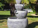 Fontaine De Jardin À Débordement Bassin 3 Vasques Noire Grise encequiconcerne Fontaine De Jardin A Debordement