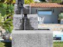 Fontaine De Jardin Bassin Carré 4 Coupes Noir Gris tout Fontaine De Jardin A Debordement