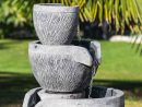 Fontaine De Jardin Bassin Rond 1.10M 4 Coupes Noire Grise serapportantà Fontaine De Jardin A Debordement