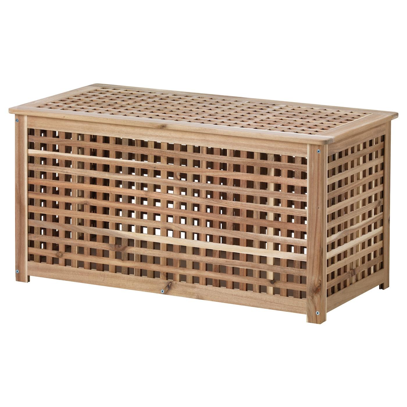 Hol Table De Rangement - Acacia 98X50 Cm encequiconcerne Coffre De Rangement Jardin Ikea