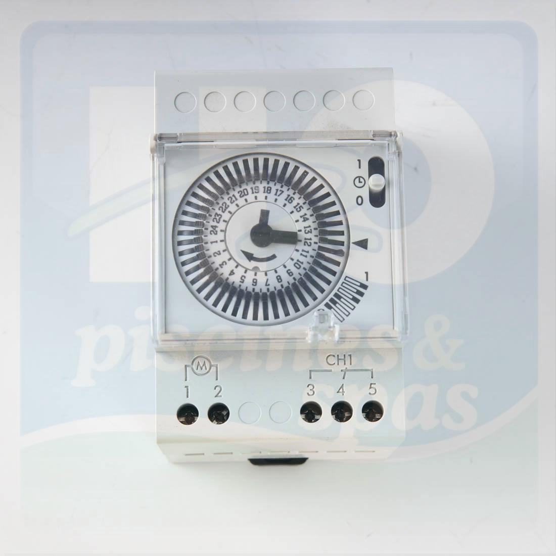 Horloge 24H/230 V Montée Sur Rail Pour Coffret De Filtration - H2O Piscines  & Spas avec Programmateur Piscine