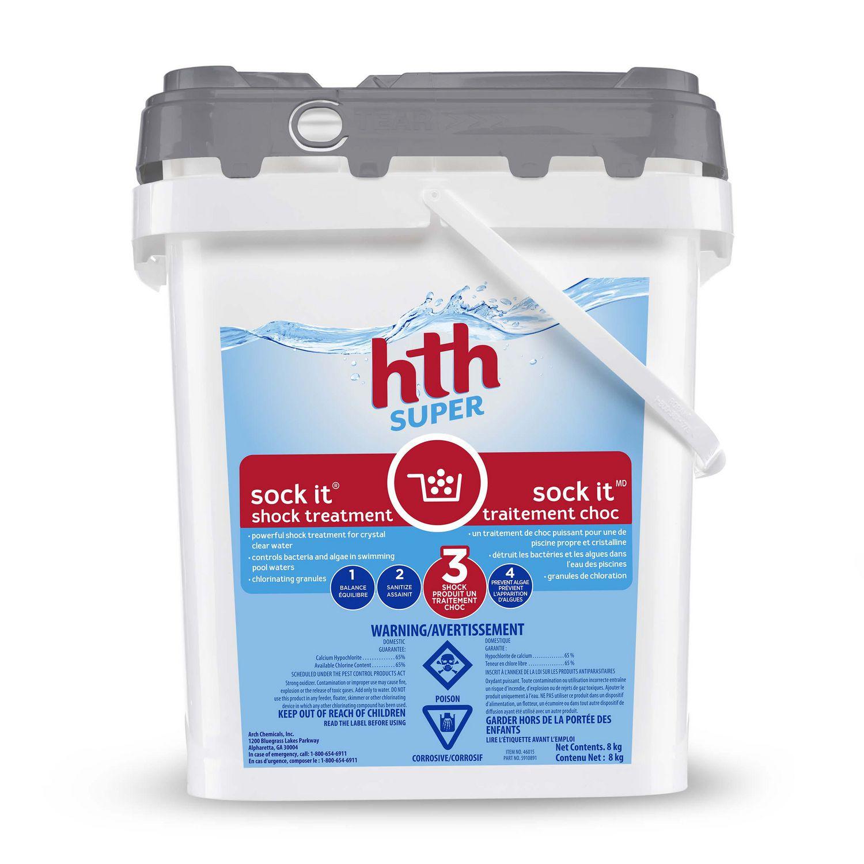 Hth Sock It Traitement Choc, 8 Kg à Produit Piscine Hth
