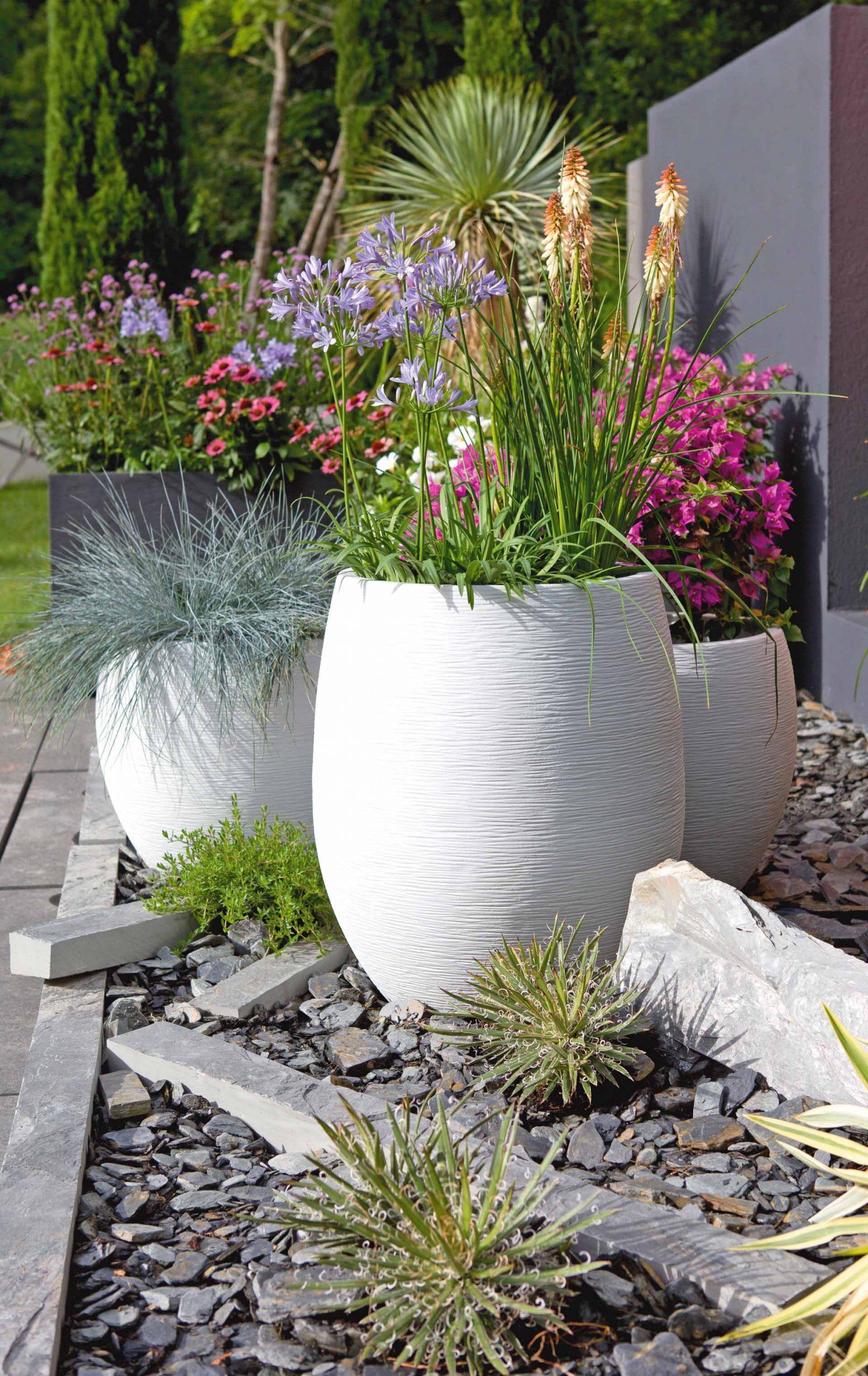 Idées De Décos Pour Le Jardin En Été avec Massif Decoratif Exterieur