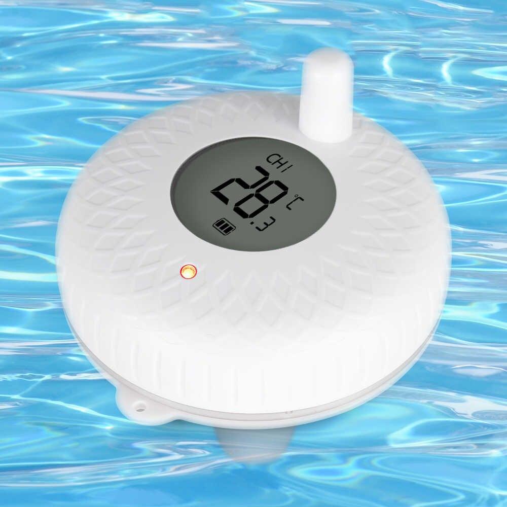 Inkbird Ibs-P01R Thermomètre De Piscine Flottant Sans Fil Bain Pour Animaux  De Compagnie Pour Piscine, Eau De Bain, Spas, Aquariums Et Étangs À ... intérieur Thermometre Piscine Wifi