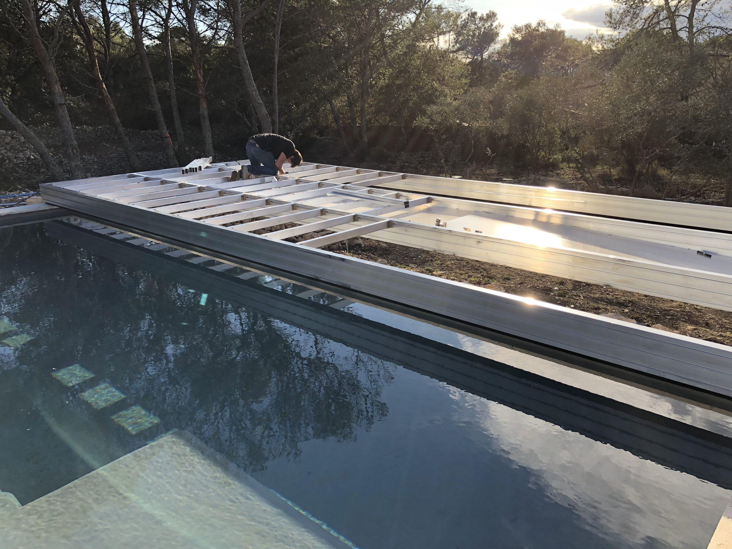 Installation D'une Terrasse Mobile À Nimes | Terrasse Mobile ... pour Fabriquer Une Terrasse Mobile Pour Piscine