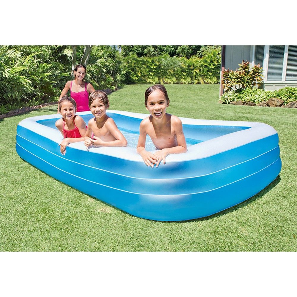 "Intex 72"" X 120"" Backyard Inflatable Kiddie Swimming Pooi W ... tout Piscine Familiale Intex"