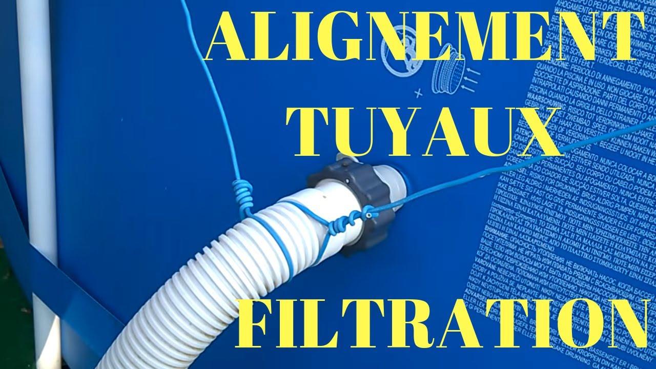 Intex Alignement Des Tuyaux De Filtration dedans Tuyau Pour Piscine Hors Sol