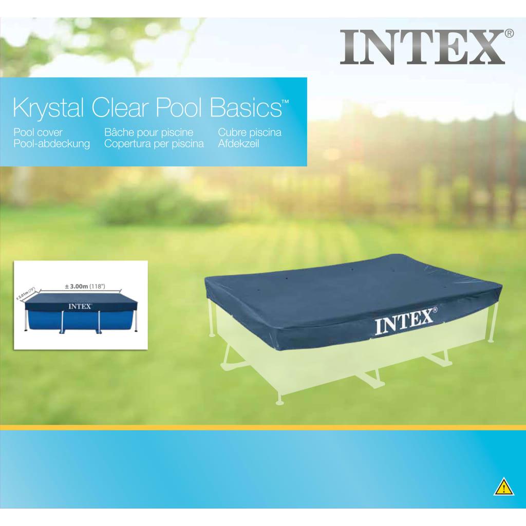 Intex Couverture Rectangulaire Pour Piscine 300X200 Cm 28038 intérieur Bache Piscine Intex 3X2
