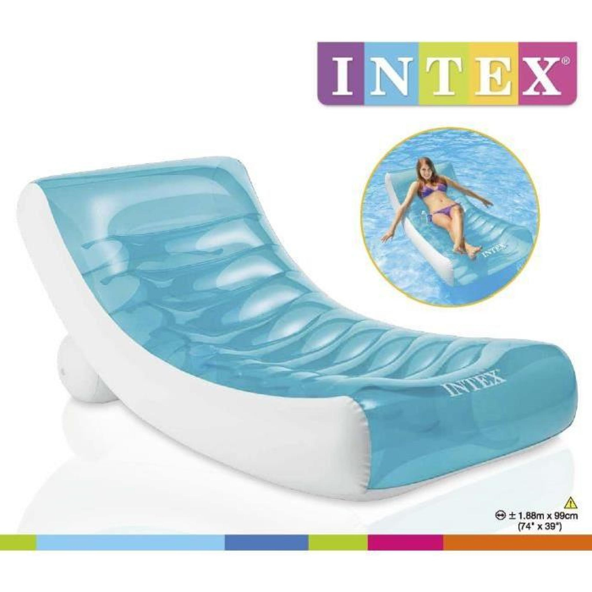 Intex Matelas Gonflable Adulte Pour Piscine Lounge 188 X 99 Cm pour Matelas Piscine Intex
