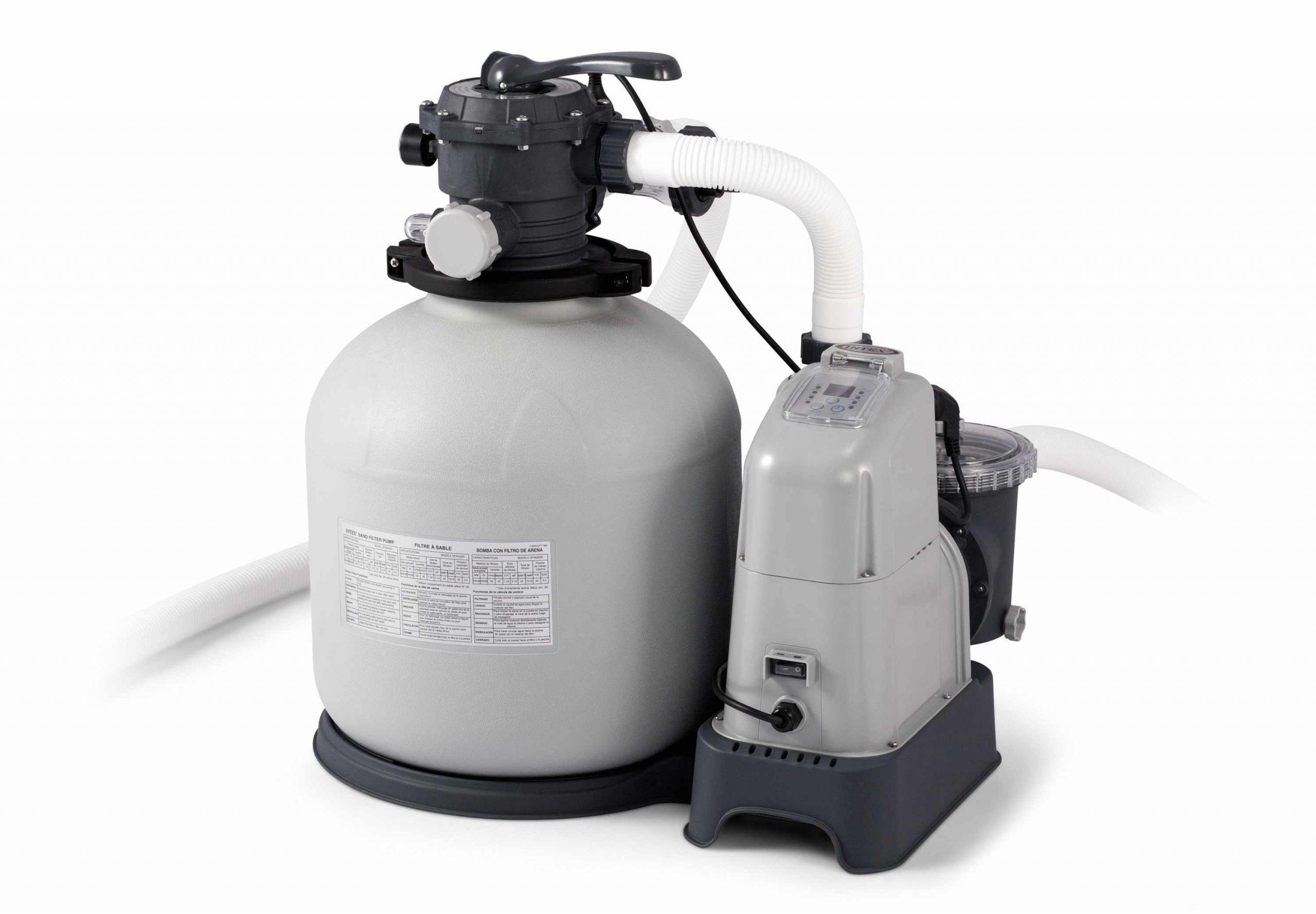 Intex Pompe 28680 Filtre Sable Piscines Hors Sol 10000 Lt/hr à Sable Pour Pompe Piscine