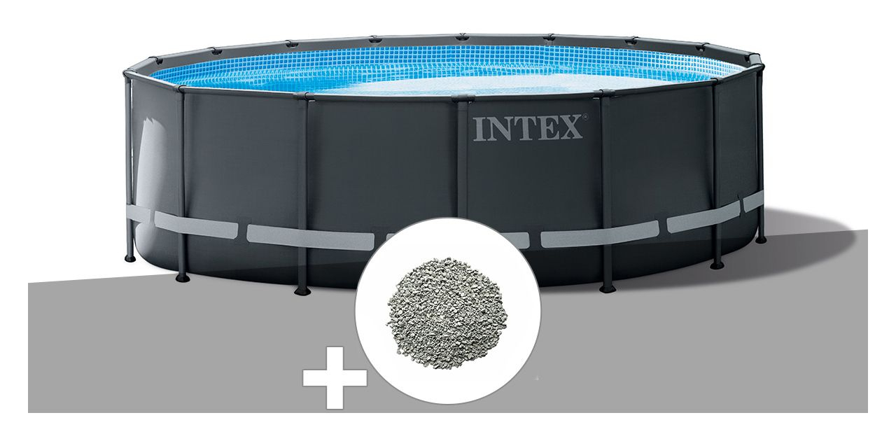 Kit Piscine Tubulaire Intex Ultra Xtr Frame Ronde 4,27 X 1 ... encequiconcerne Zeolite Piscine