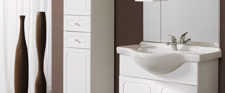 """L'ensemble """"majorca"""" Blanc 60 Cm. Caisson + Bandeau + Plan Vasque Céramique  + Miroir Led 60 Cm à Carrelage Antidérapant Salle De Bain Brico Dépôt"""