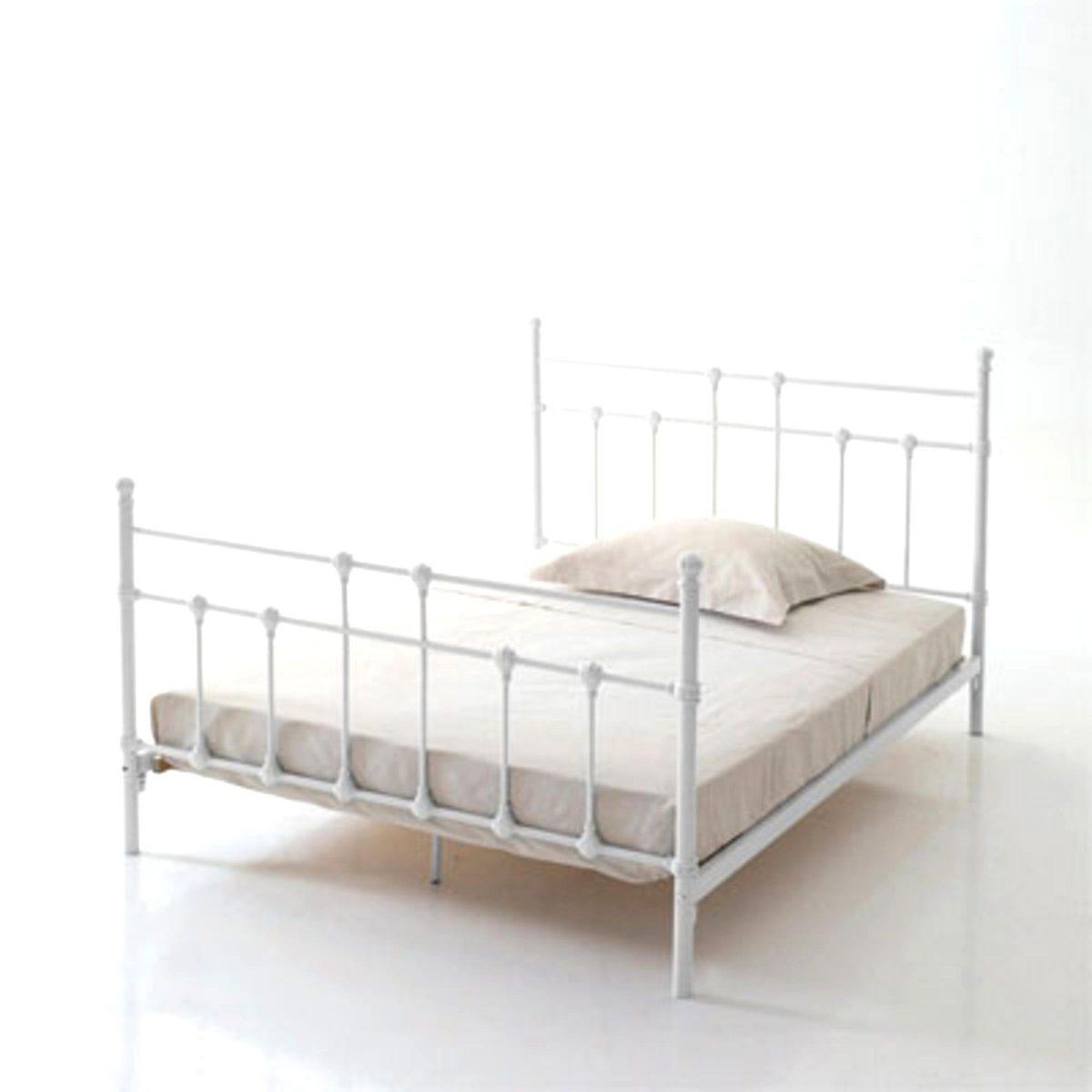 lit metal blanc 140 d'occasion destiné lit fer forgé