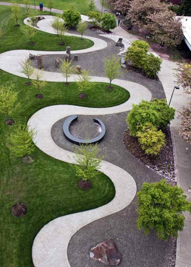 Modèle De Jardin Avec Galets En 26 Exemples Inspirants concernant Parterre Decoratif