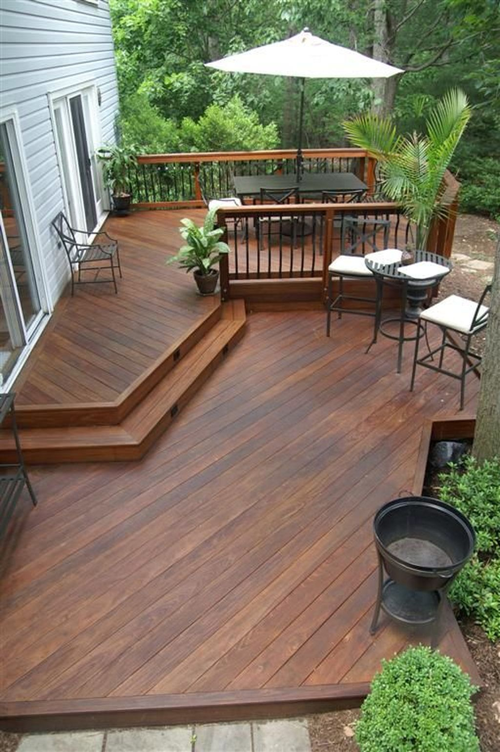 Nice 52 Easy Diy Wooden Deck Design For Your Home. More At ... à Terrasse Bois Nice
