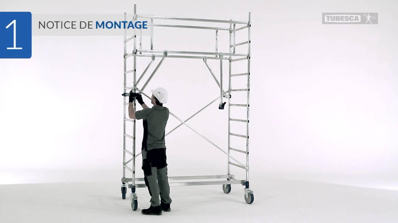 Notice De Montage Totem : Échafaudage Roulant dedans Échafaudage Roulant Bricomarché
