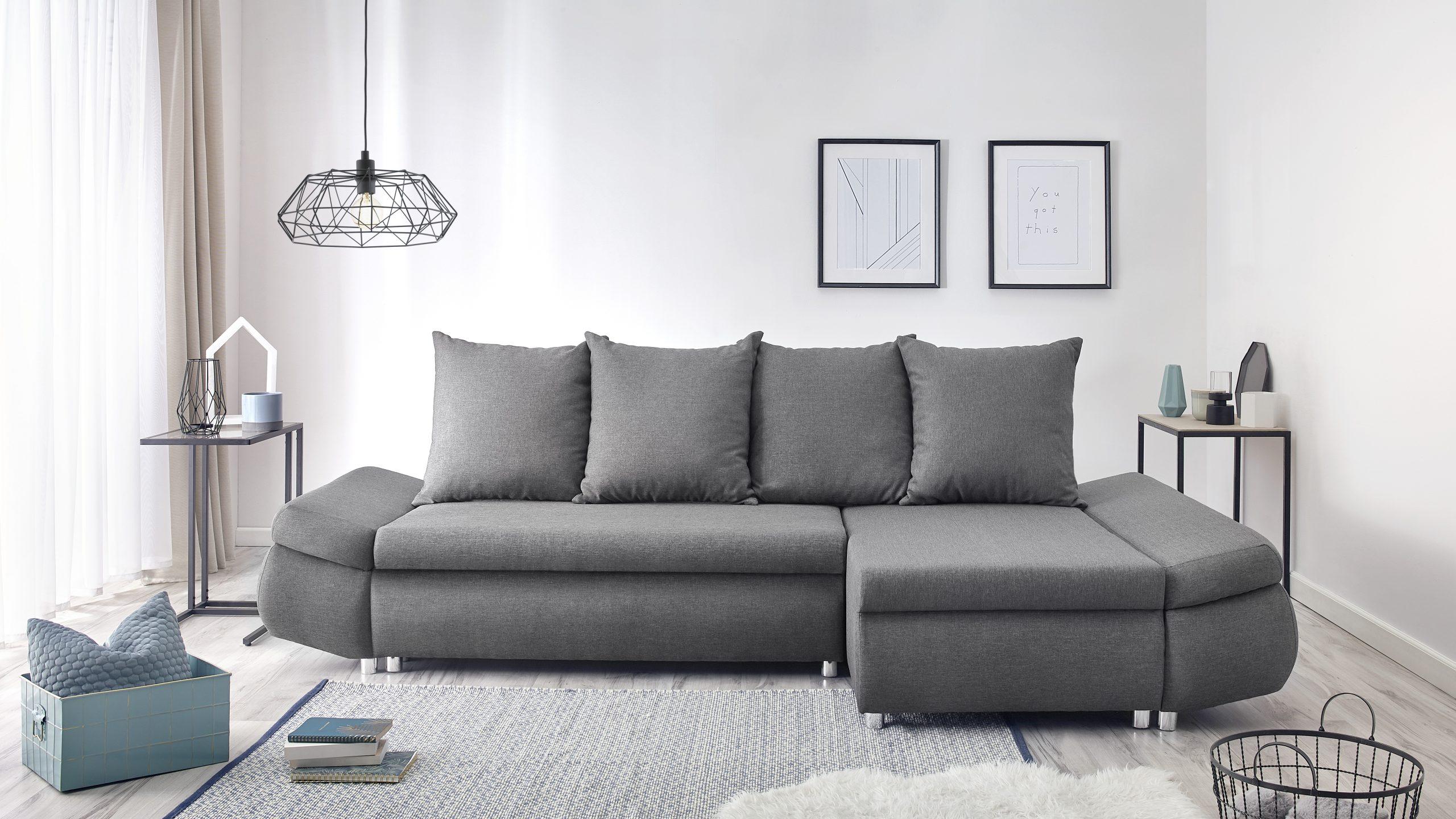 Oliver Canapé D'angle Réversible Convertible 4 Places + ... concernant Canapé Premium Confort Gris Anthracite