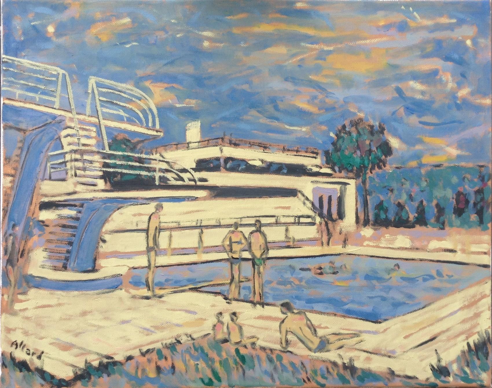 Peinture Piscine Jean Bouin, À Evreux (Collection Particulière) avec Horaire Piscine Jean Bouin Evreux
