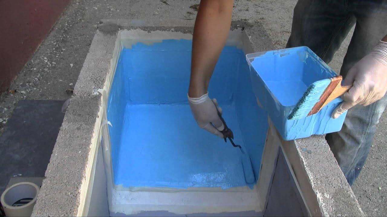 Peinture Piscine Protection Et Décoration Support Béton Et Ciment Mise En  Oeuvre Facile destiné Étanchéité Piscine Béton