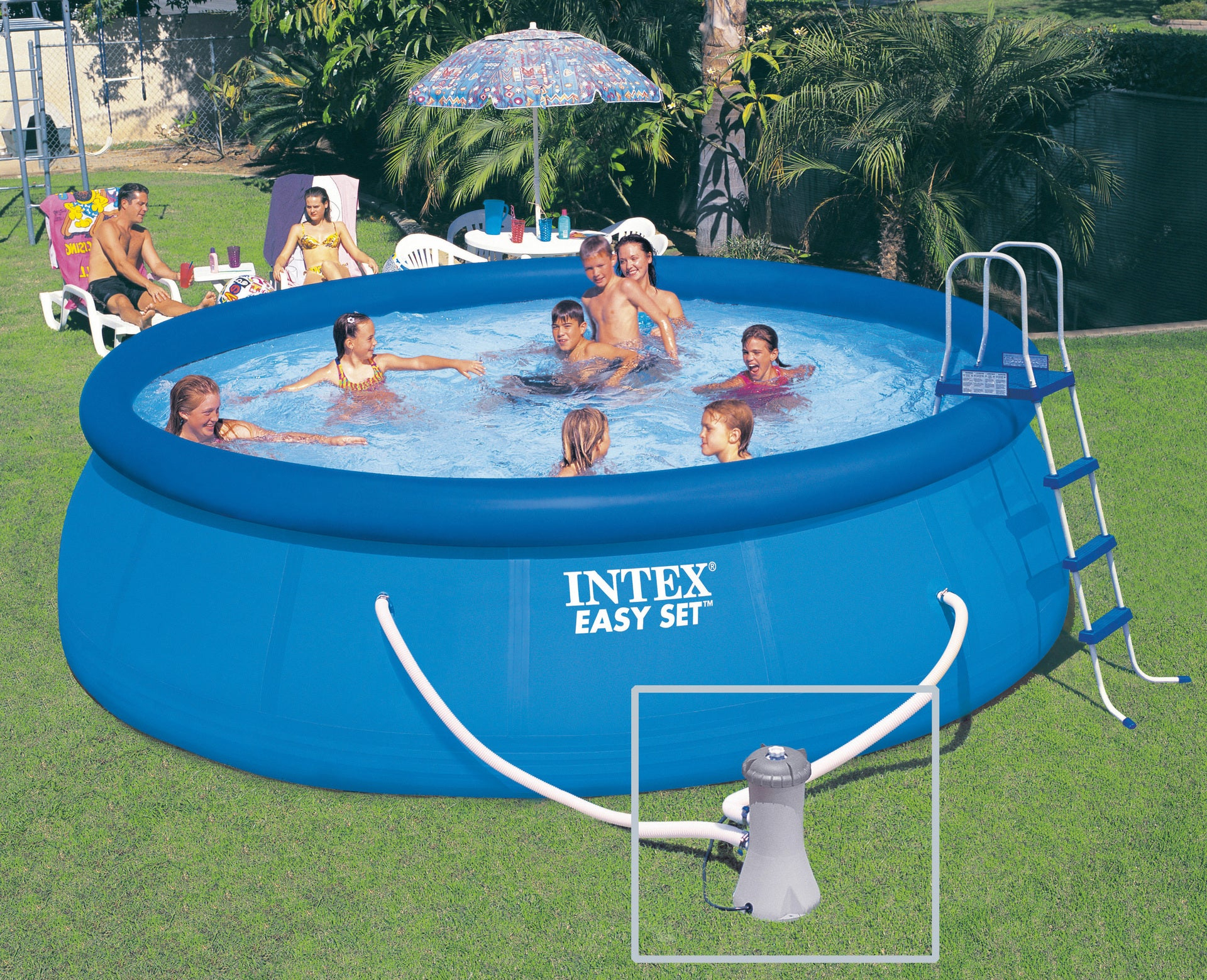 Piscine Autoportante Intex Easy Set Diam.4.57 M X H.1.22 M tout Prix Piscine Intex