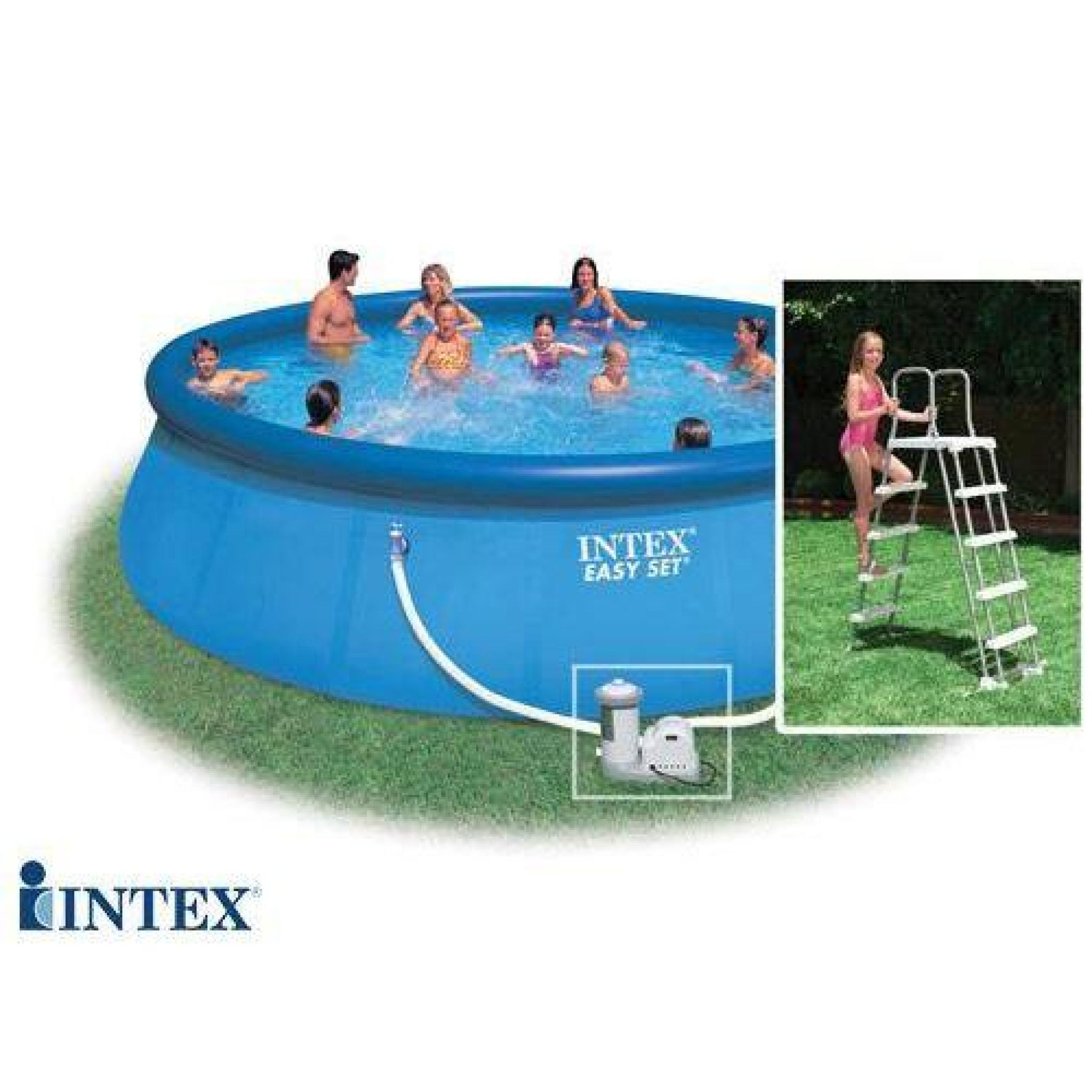 Piscine Autostable Intex 4,57 X 1,22 M encequiconcerne Piscine Autostable