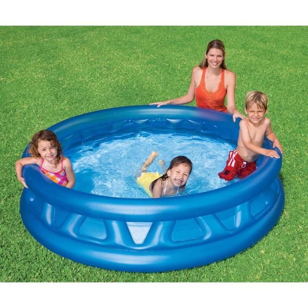 """Piscine Enfant """"soft Side Pool"""" Bleu - Achat / Vente ... destiné Piscine Intex Enfant"""