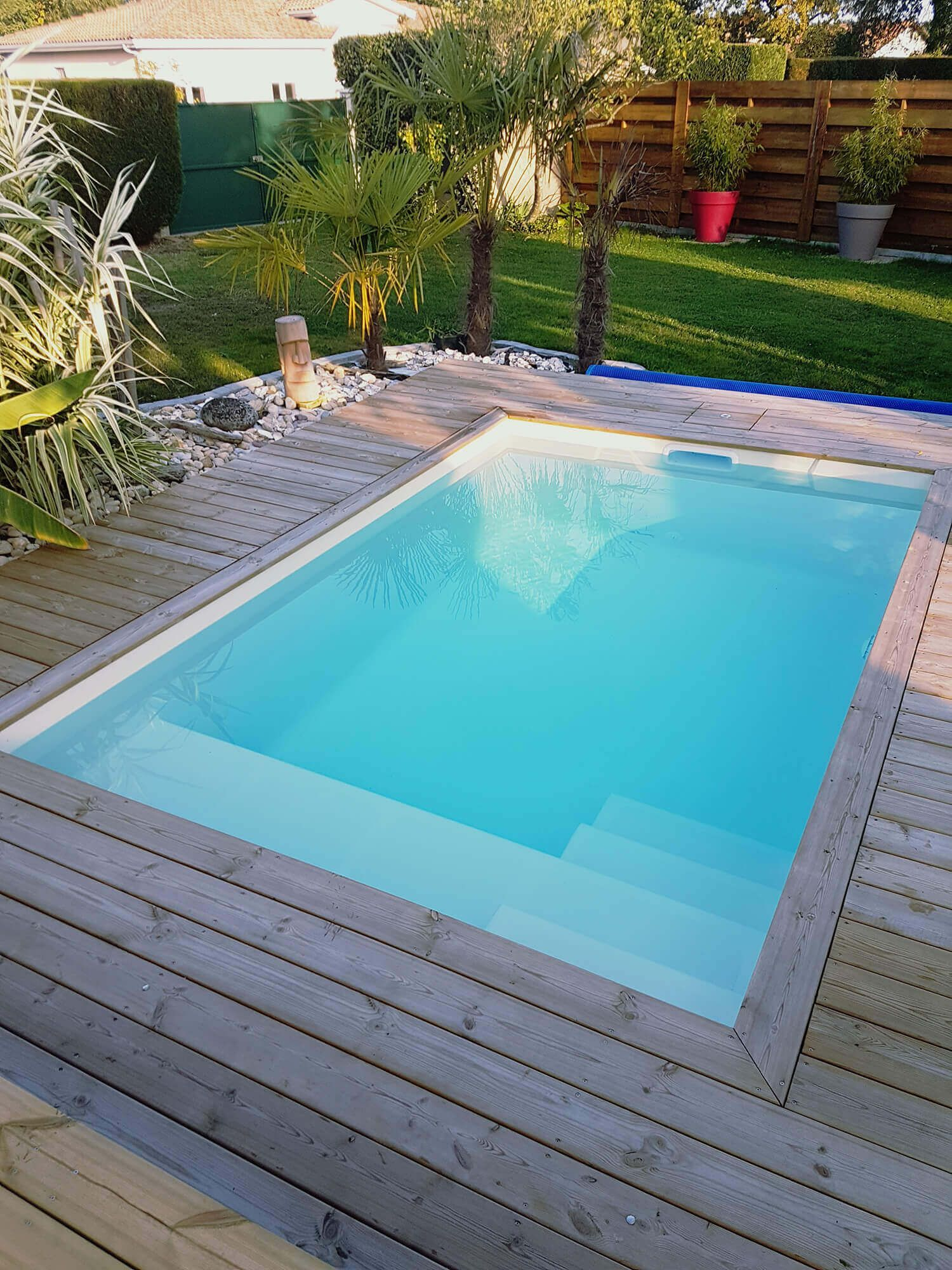 Piscine Fond Plat - Aboral Piscines In 2020 | Small Backyard ... destiné Piscine Aboral