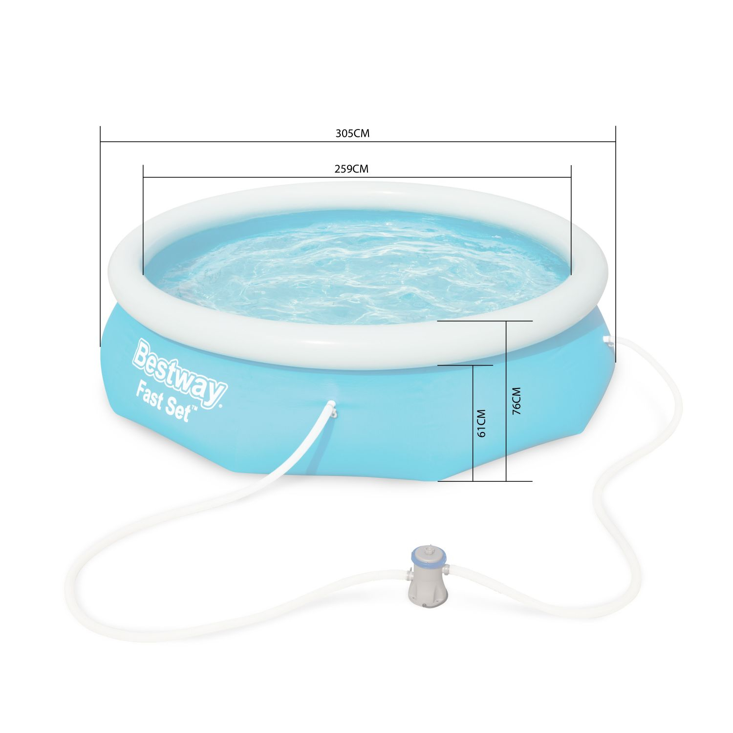 Piscine Gonflable Autoportante – Diamant à Piscine Autostable