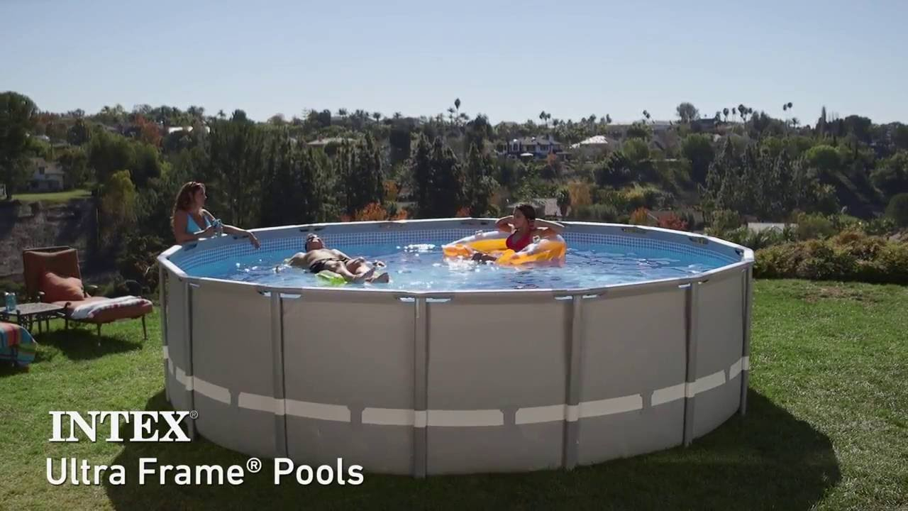 Piscine Intex Ultra Frame : Piscines Tubulaires Rondes pour Piscine Tubulaire Ronde Intex