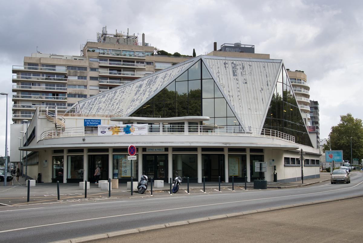 Piscine Léo-Lagrange (Nantes, 1951)   Structurae intérieur Pisciniste Nantes