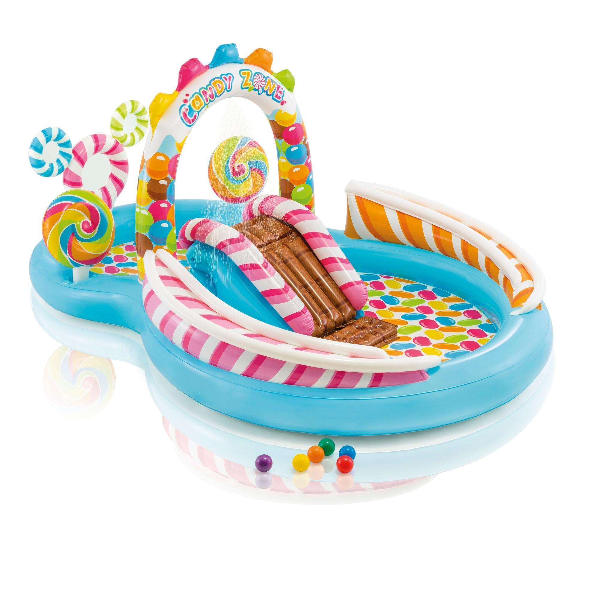 Piscine Parc Aquatique Intex Avec Toboggan Pour Les Enfants De Plus De 3 Ans dedans Piscine Intex Enfant