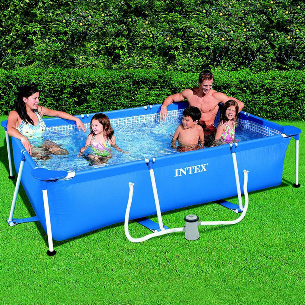 Piscine Tubulaire Intex Metal Frame 3,00 X 2,00 X 0,75 M tout Prix Piscine Intex