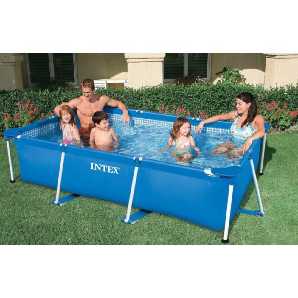 Piscine Tubulaire Rectangulaire Intex 3,8M destiné Piscine Intex Rectangulaire Tubulaire
