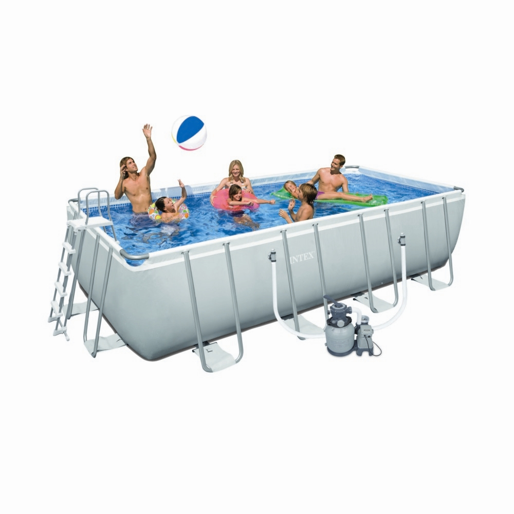 Piscine Tubulaire Rectangulaire Intex Ultra Silver 549X274X132Cm tout Piscine Intex Rectangulaire Tubulaire