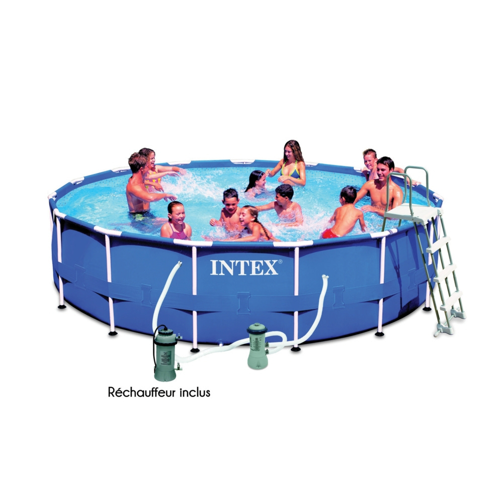 Piscine Tubulaire Ronde Intex Metal Frame Diamètre 4.57M à Piscine Tubulaire Ronde Intex
