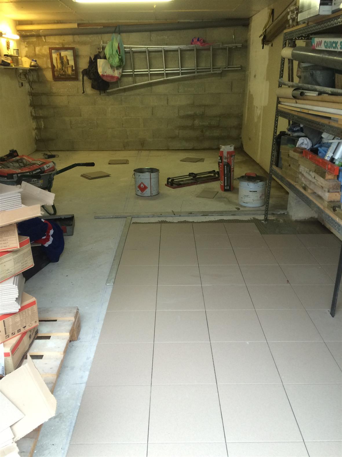 Pose Carrelage - Garage encequiconcerne Carrelage Pour Garage