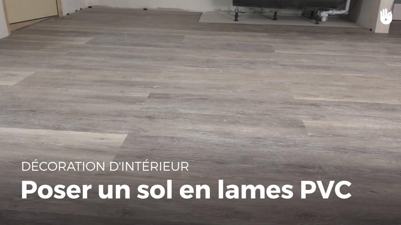Poser Un Sol En Lames De Pvc   Bricolage pour Lino Imitation Parquet Castorama