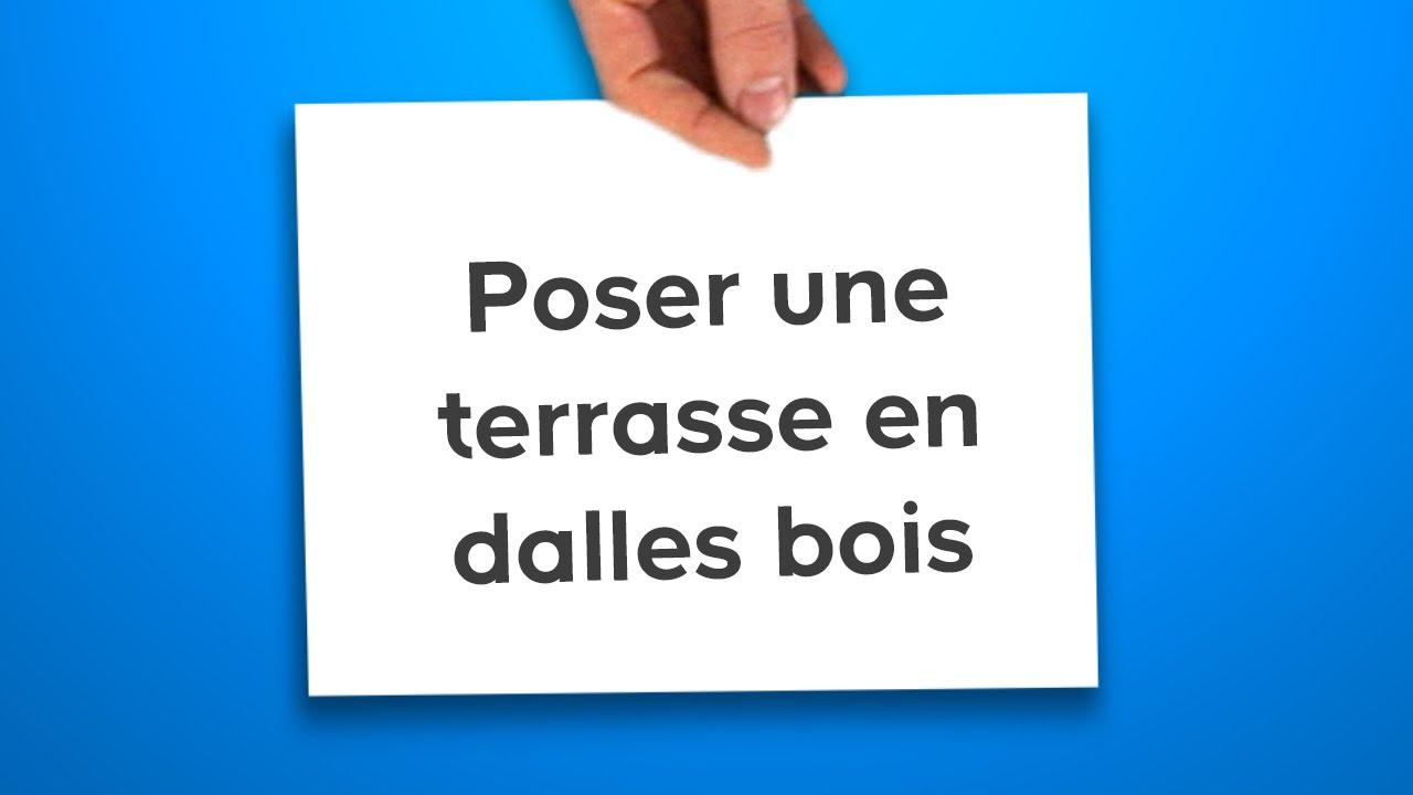 Poser Une Terrasse En Dalles Bois (Castorama) pour Caillebotis 100X100 Castorama