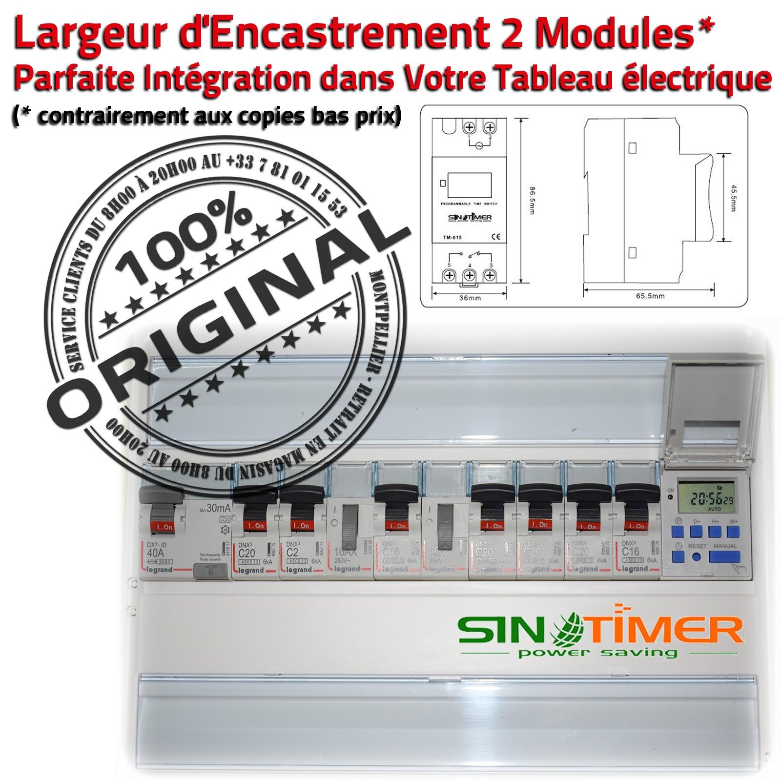 Programmation Automatique Journalière Electronique Minuterie Pompe Piscine  Horloge Digitale Rail Din 16A 4000W Minuteur Digital tout Programmateur Piscine
