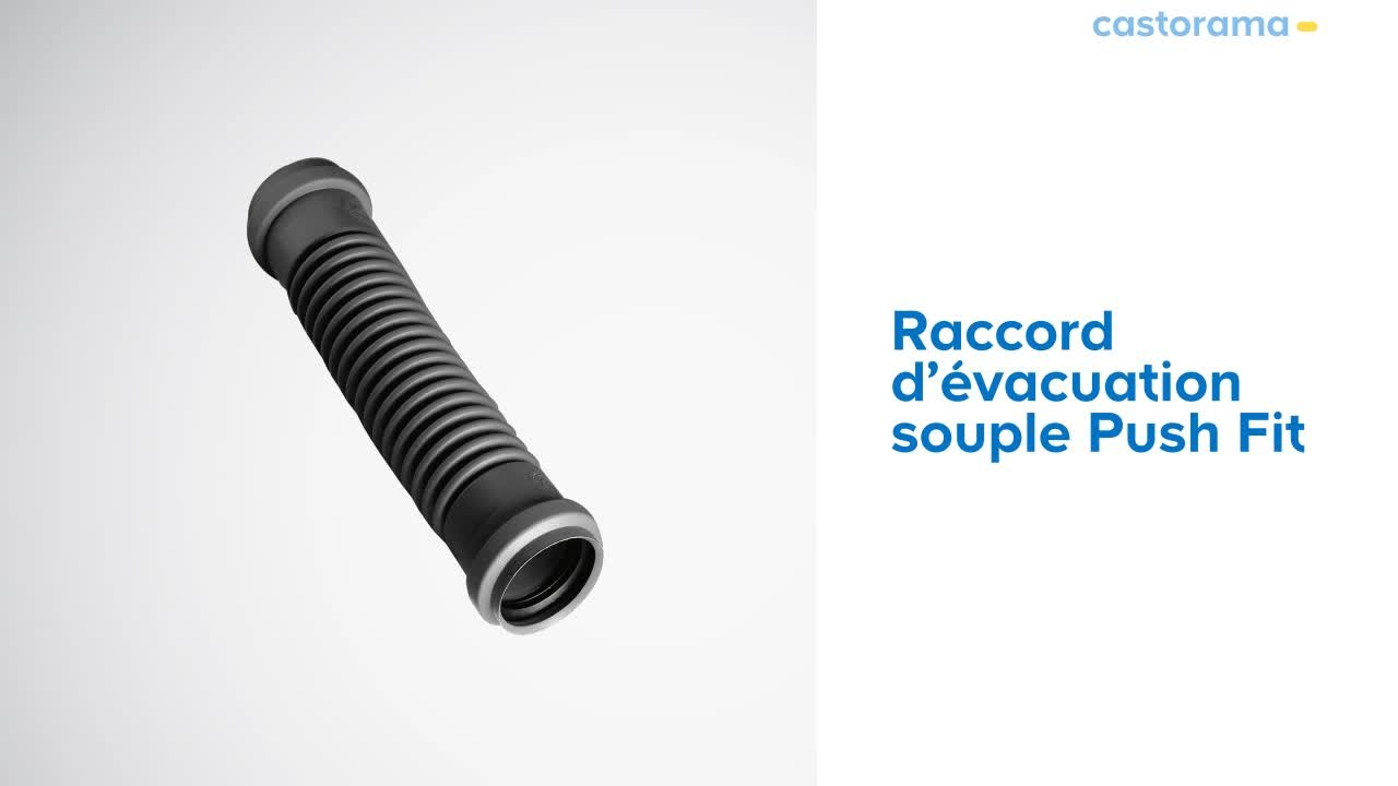 Raccord D'évacuation Souple Push Fit Wirquin (500347) Castorama pour Tuyau Piscine 50 Castorama