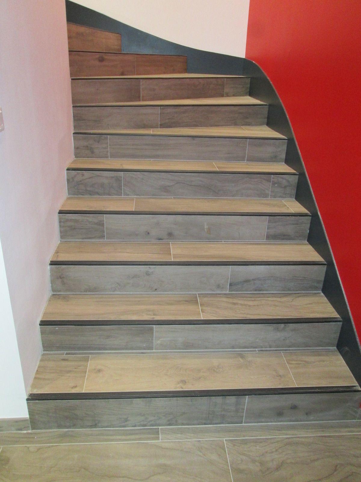 Réalisations Escalier Carrelage   Escalier Carrelage ... destiné Plinthe Carrelage Escalier