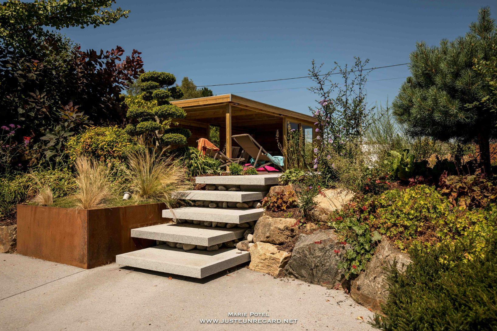 Rebeyrol Créateur De Jardins, Escalier Limoges, Aménagement ... à Conception Jardin Limoges