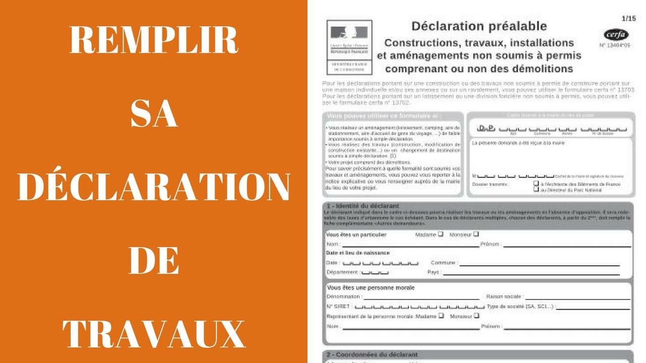 Remplir Sa Déclaration Préalable De Travaux pour Exemple Declaration De Travaux Piscine