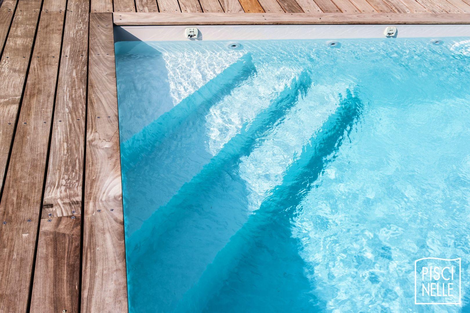 Rénovation Piscine + Terrasse | Piscine, Escalier Piscine ... avec Escalier Piscine À Poser Sur Liner