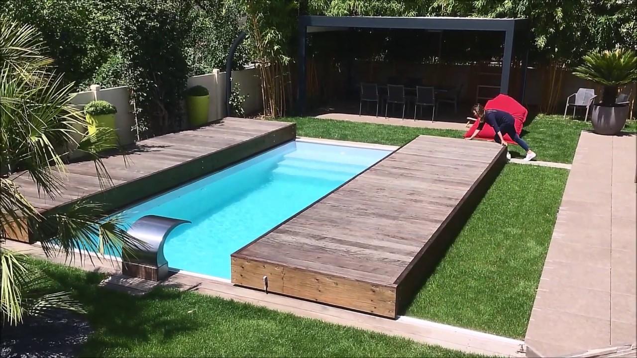 Rolling-Deck® : Terrasse Mobile De Piscine En 2 Modules En Bois Exotique avec Fabriquer Une Terrasse Mobile Pour Piscine
