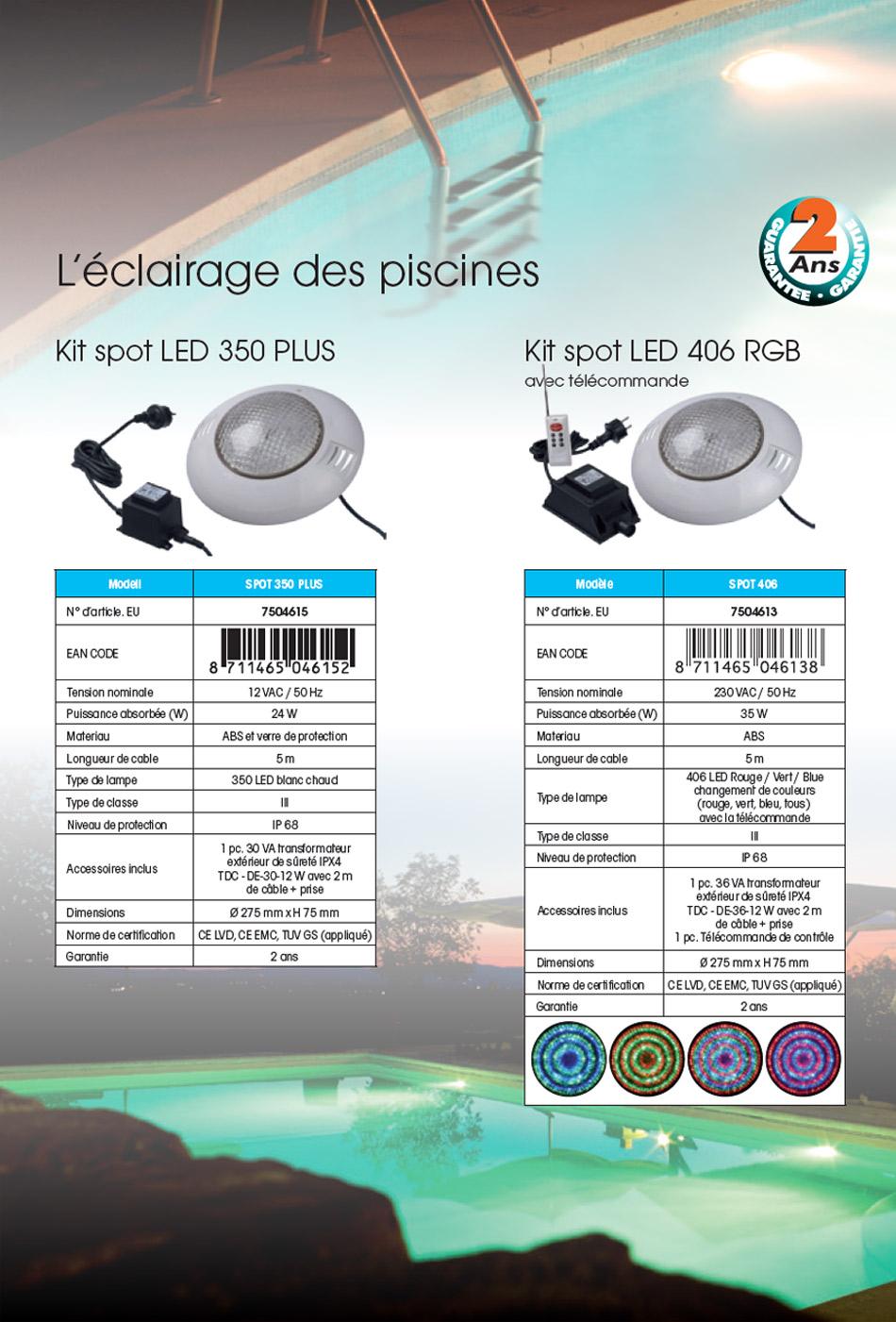 Spot À Led Pour Piscine Bois Ubbink - 350 Led intérieur Spot Piscine Led Multicolor